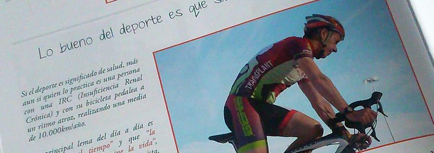 Javier Aguirre en la revista Alcer Bizkaia